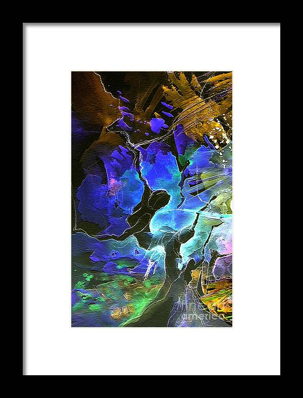 Miki Framed Print featuring the painting Bye by Miki De Goodaboom