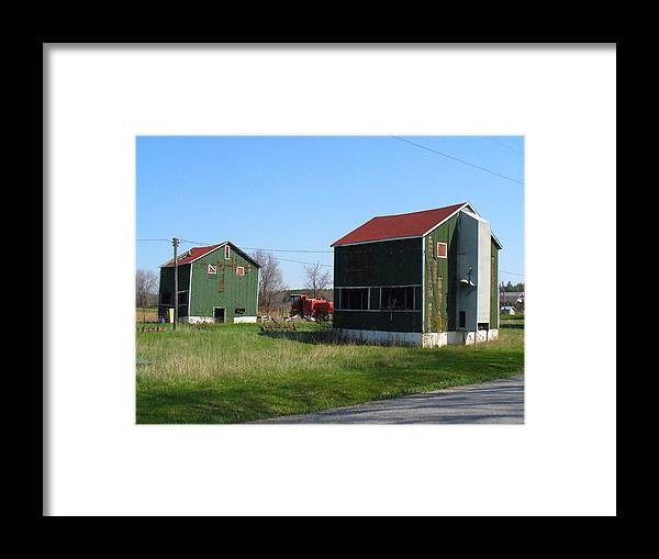 Tobacco Kilns Framed Print featuring the photograph Bygone Era by Peggy King