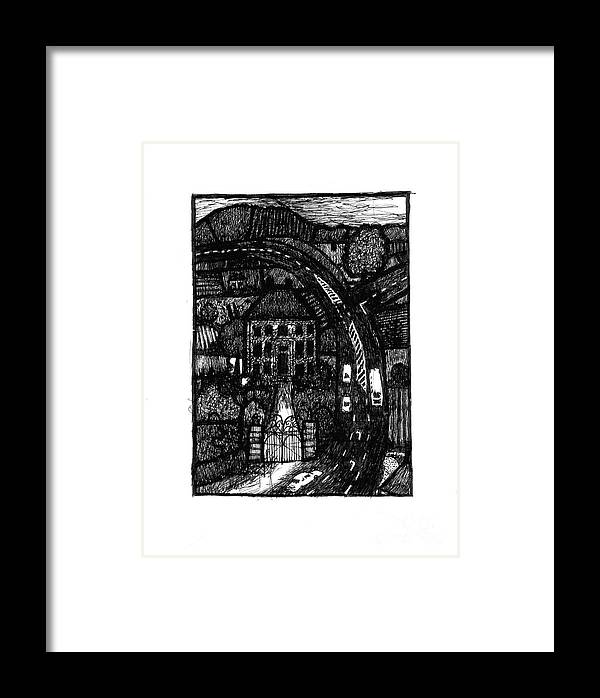 Bypass Framed Print featuring the drawing Bypass by Andy Mercer