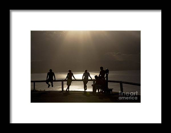 Byron Bay Lighthouse Silhouette Sunset Rays Framed Print featuring the photograph Byron Bay Lighthouse by Sheila Smart Fine Art Photography