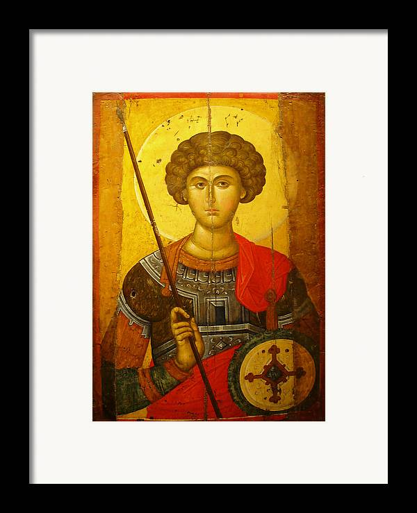 Byzantine Knight Framed Print featuring the photograph Byzantine Knight by Ellen Henneke