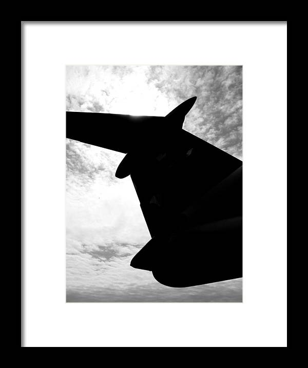 C-5 Framed Print featuring the photograph C-5 Galaxy by Chaz McDowell