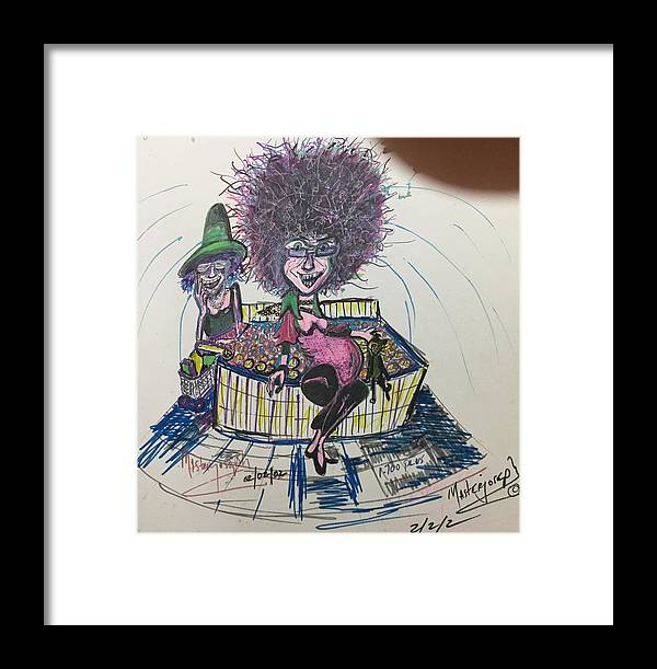 Framed Print featuring the mixed media C And K by Anthony Masterjoseph