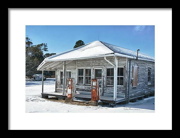 Caroline Wright Framed Print featuring the photograph C. W. Wright Store 7203 by Dan Beauvais