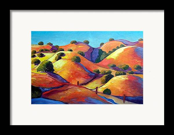 Curves Framed Print featuring the painting Ca Rollers by Gary Coleman