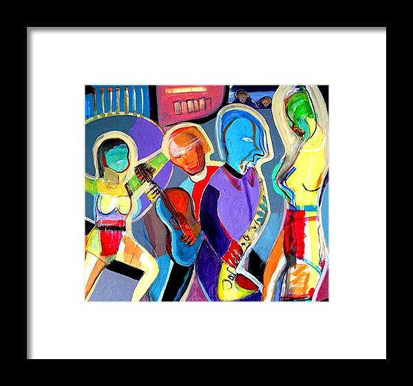Jazz Framed Print featuring the painting Cabaret by Barron Holland
