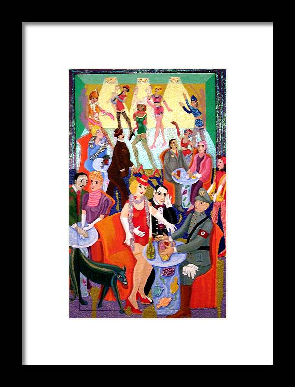 Surreal Framed Print featuring the painting Cabaret by Maria Alquilar