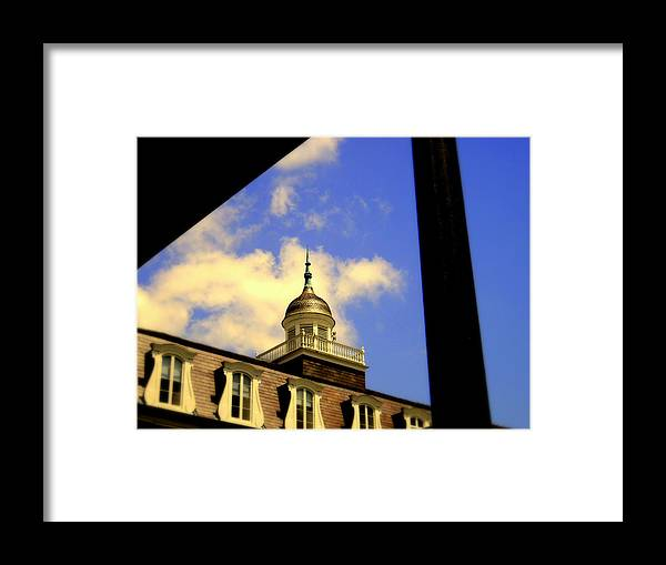 Framed Print featuring the photograph Cabildo Cupola Jackson Square by Ted Hebbler