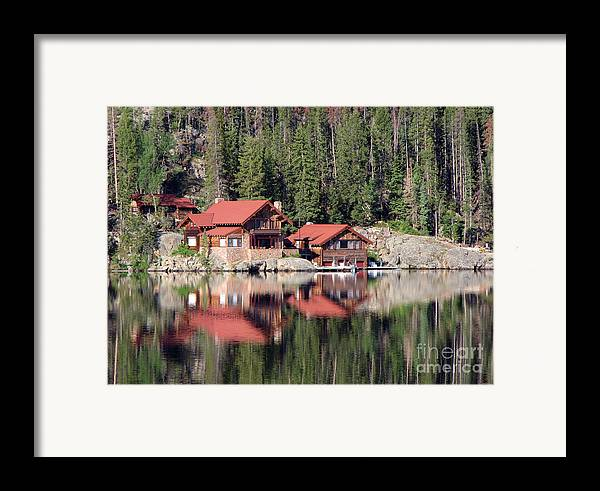 Cabin Framed Print featuring the photograph Cabin by Amanda Barcon
