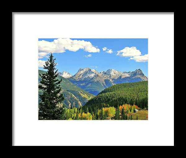 Cabin Framed Print featuring the photograph Cabin In The San Juans by Scott Mahon