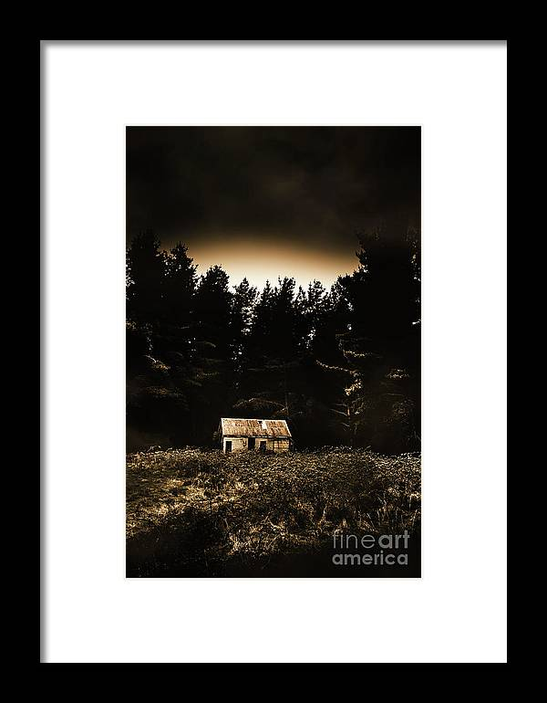 Woods Framed Print featuring the photograph Cabin In The Woodlands by Jorgo Photography - Wall Art Gallery