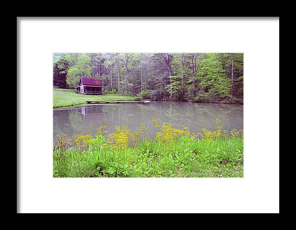 Cabin Framed Print featuring the photograph Cabin Reflection by Alan Lenk