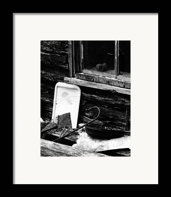 Framed Print featuring the photograph Cabin-window by Curtis J Neeley Jr