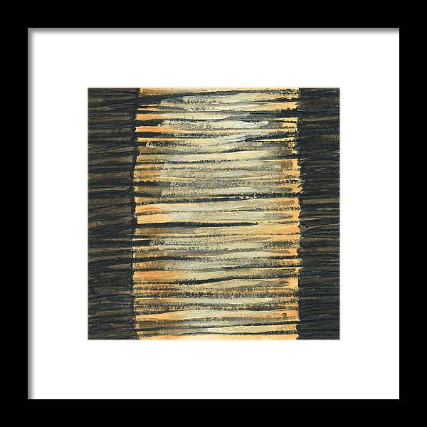 Abstract Framed Print featuring the painting Cables 1 by Jean Beal