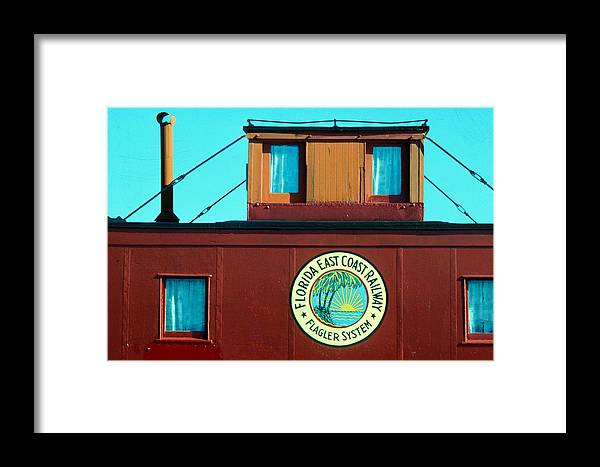 Florida Keys Train Railroad Framed Print featuring the photograph Caboose by Carl Purcell