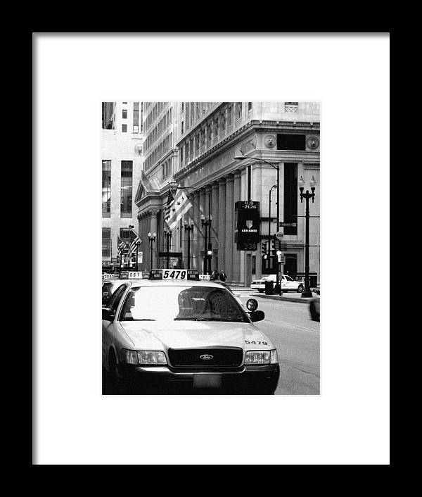 Chicago Framed Print featuring the photograph Cabs In The City by Laura Kinker