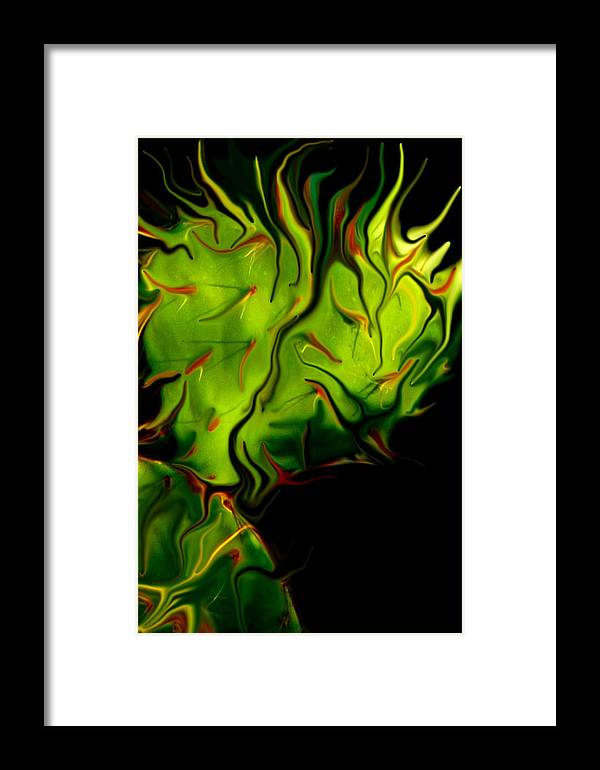 Cactus Framed Print featuring the photograph Cactus Fire by Eric Madera