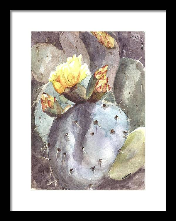 Cactus Framed Print featuring the painting Cactus Flower by Marilyn Barton