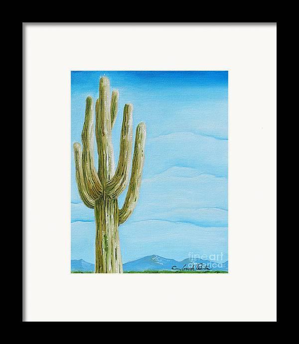 Cactus Jack Framed Print featuring the painting Cactus Jack by Joseph Palotas