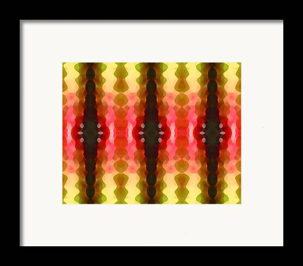 Abstract Framed Print featuring the painting Cactus Vibrations 2 by Amy Vangsgard