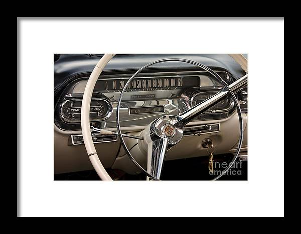 Classic Framed Print featuring the photograph Cadillac Dash by Dennis Hedberg