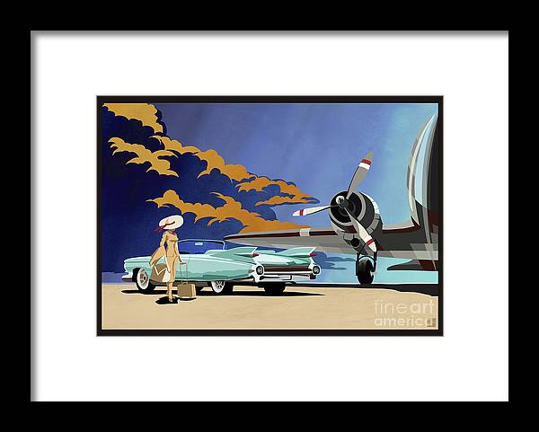 Cadillac Framed Print featuring the painting Cadillac Eldorado 1959 by Sassan Filsoof
