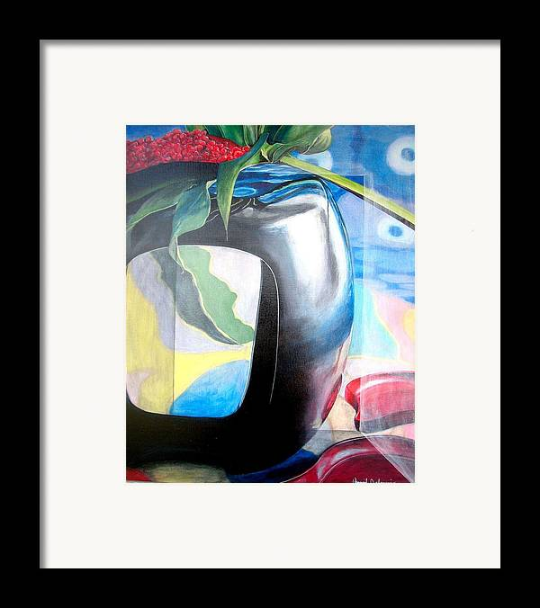 Nature-morte Framed Print featuring the painting Cadre by Muriel Dolemieux