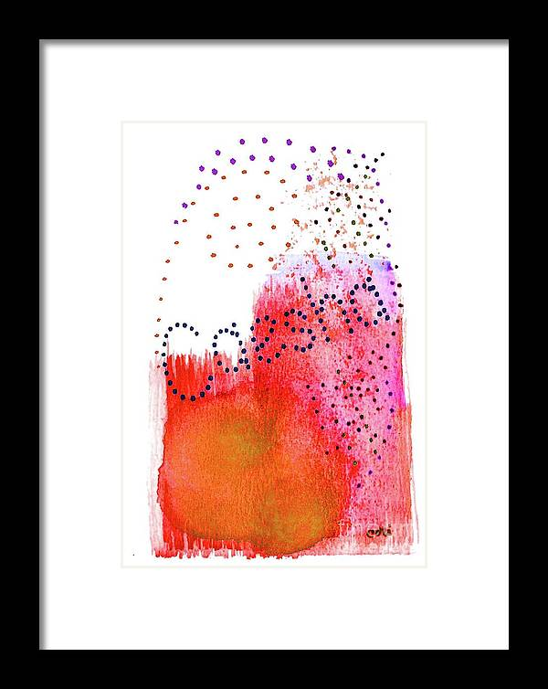 Abstract Framed Print featuring the painting Caesha 2 by Corinne Carroll