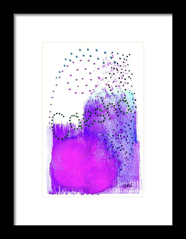 Abstract Framed Print featuring the painting Caesha 3 by Corinne Carroll
