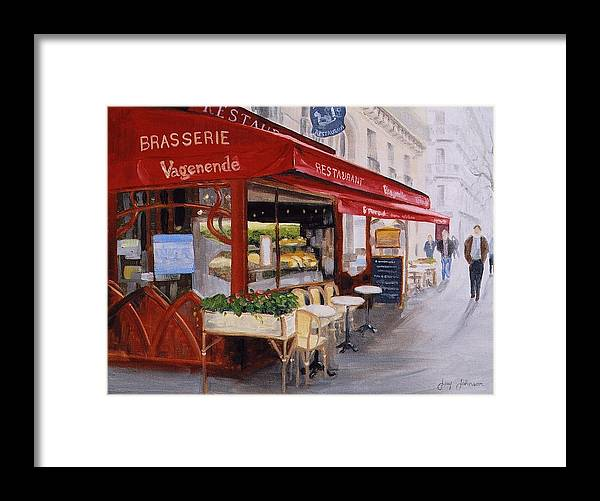 Cafe Framed Print featuring the painting Cafe 4 by Jay Johnson