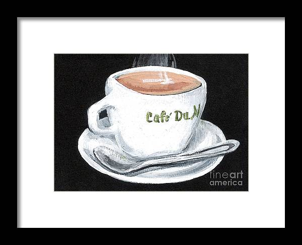 Coffee Framed Print featuring the painting Cafe Au Lait by Elaine Hodges