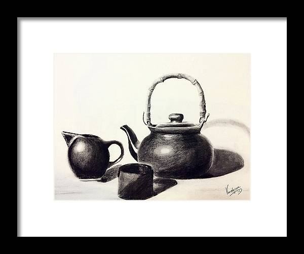 Coffee Latte Framed Print featuring the painting Cafe Con Leche by Veronica Castaneda