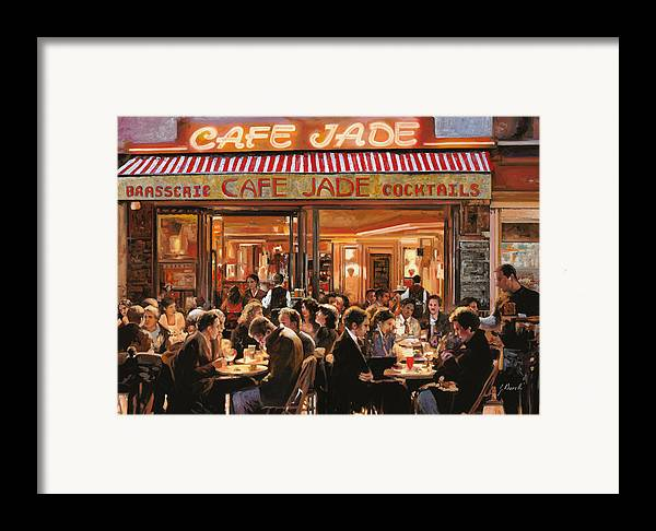 Brasserie Framed Print featuring the painting Cafe Jade by Guido Borelli