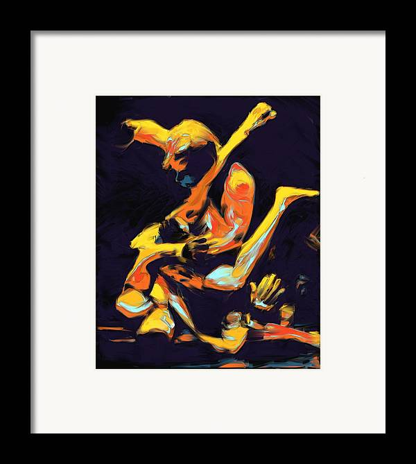 Mma Framed Print featuring the painting Cage Fighters by Deborah Lee