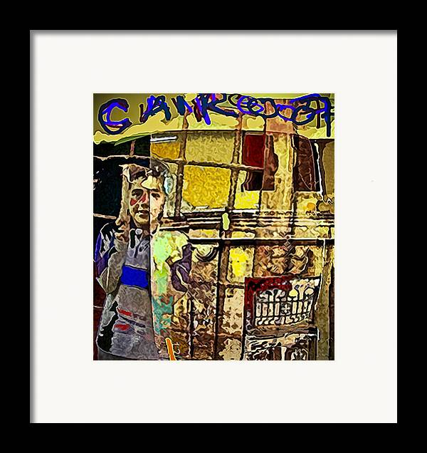 Cairo Framed Print featuring the painting Cairo 07 by Noredin Morgan