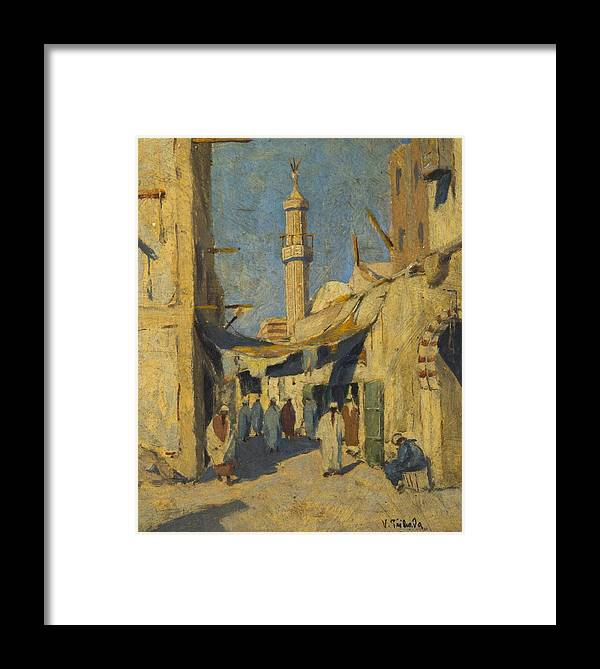 Př�hoda Framed Print featuring the painting Cairo by Vaclav