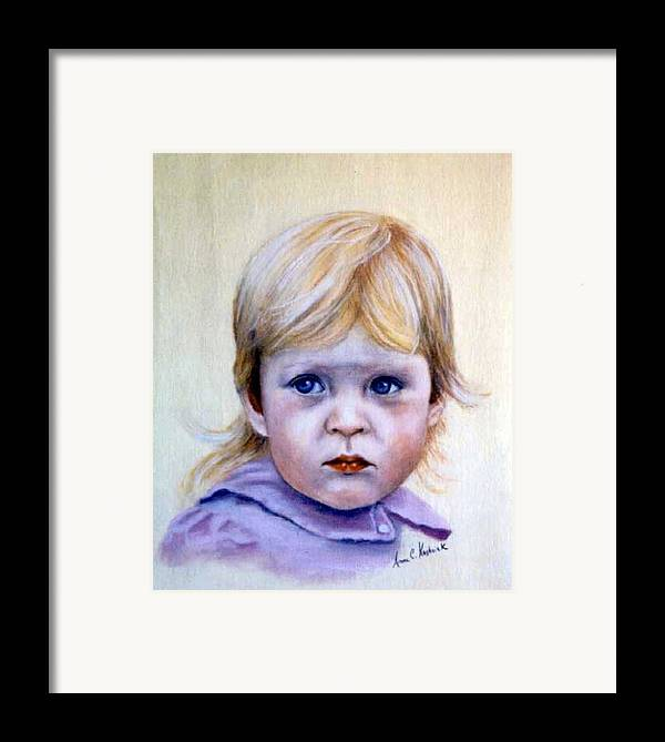 Framed Print featuring the painting Caitlin by Anne Kushnick