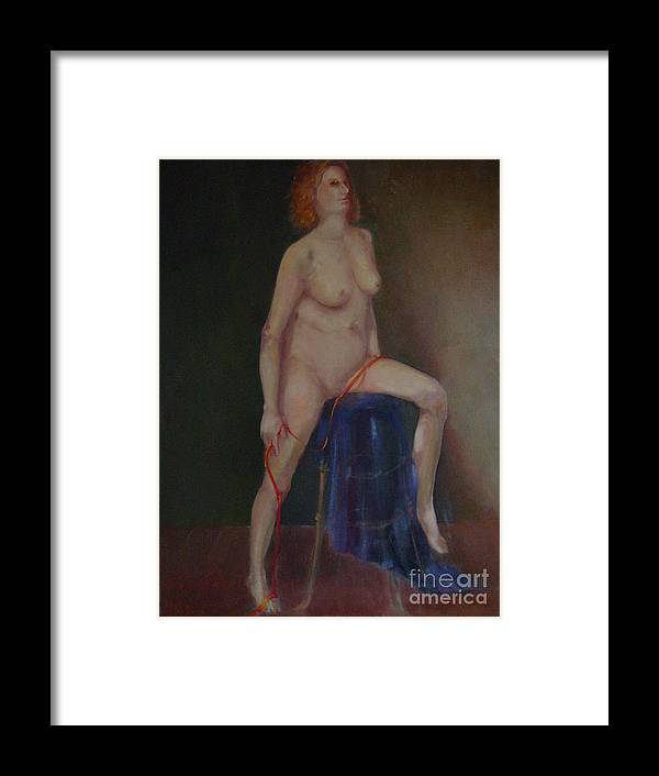 Figure Framed Print featuring the painting Caitlin Copyrighted  by Kathleen Hoekstra