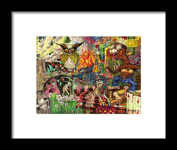 California Framed Print featuring the mixed media California Dreaming by Brian Child