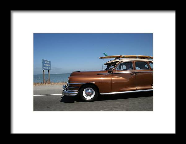 Vintage Car Framed Print featuring the photograph California Dreaming by Linda Russell