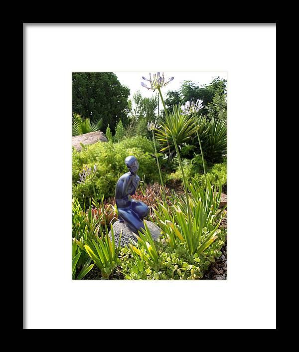 Digital Photo Framed Print featuring the photograph California Garden by Chuck Shafer
