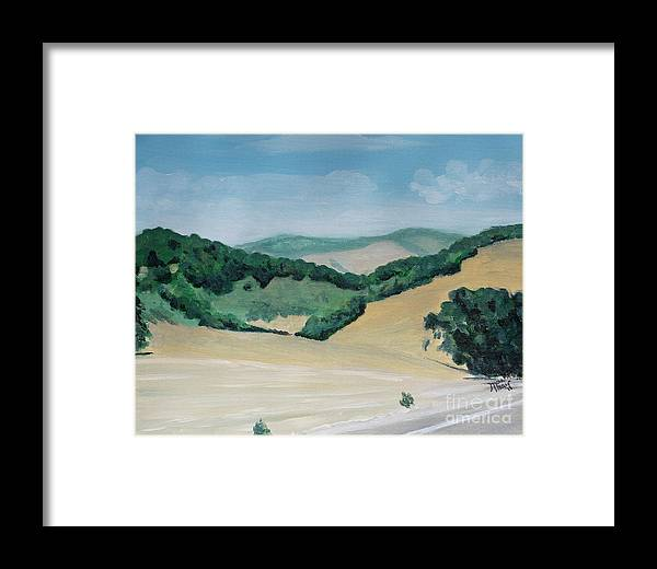 California Framed Print featuring the painting California Highway by Jackie MacNair