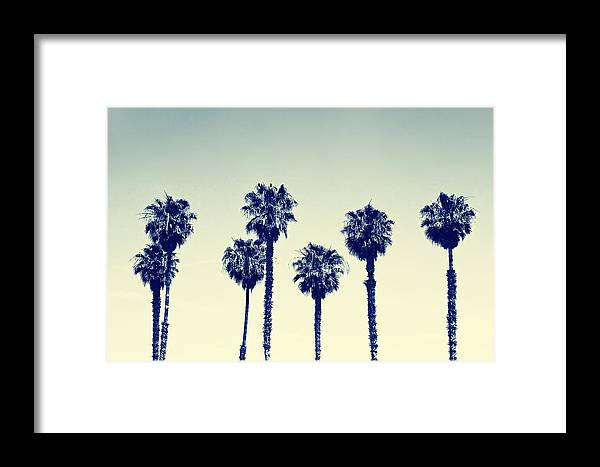 California Framed Print featuring the photograph California Palm Trees by Anna Floridia