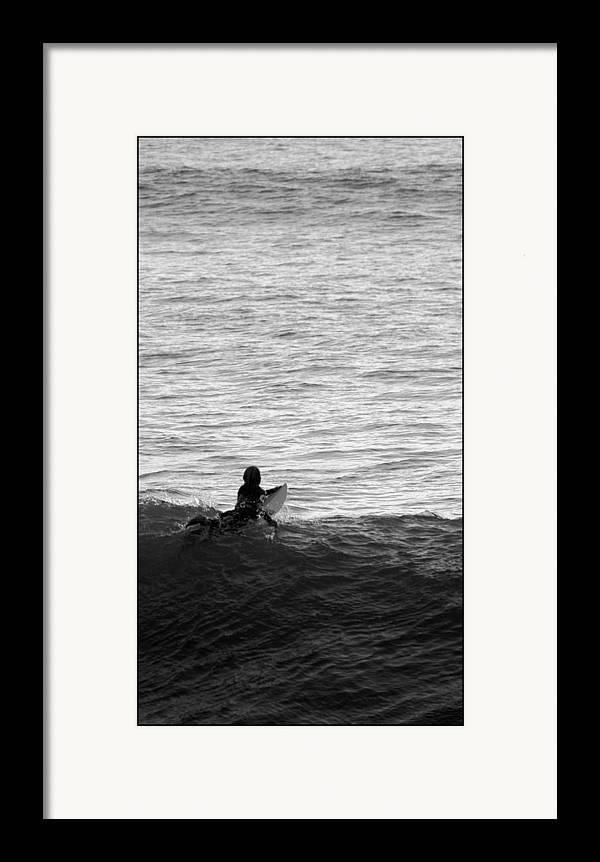 San Clemente Pier Framed Print featuring the photograph California Surfing by Brad Scott