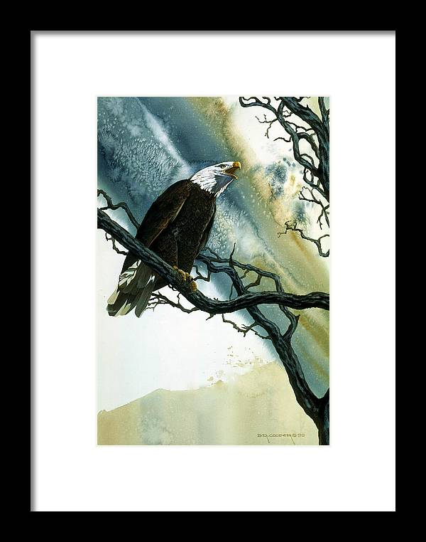 Bald Eagle Framed Print featuring the painting Call Of The Wild by Dale Cooper