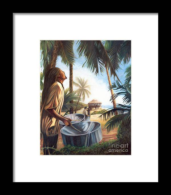 Tropical Framed Print featuring the painting Call To Paradise by Mike Massengale