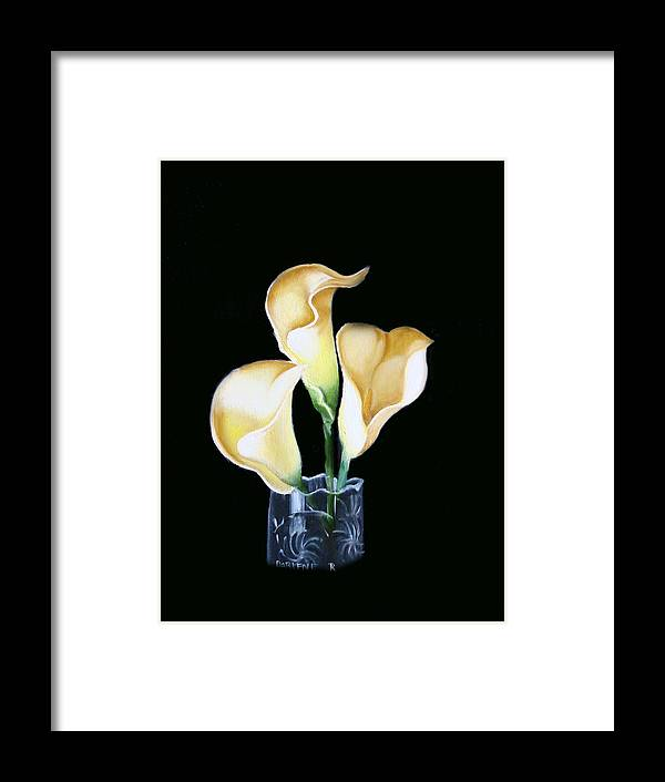 Calla Lilies Framed Print featuring the painting Calla Lily by Darlene Green