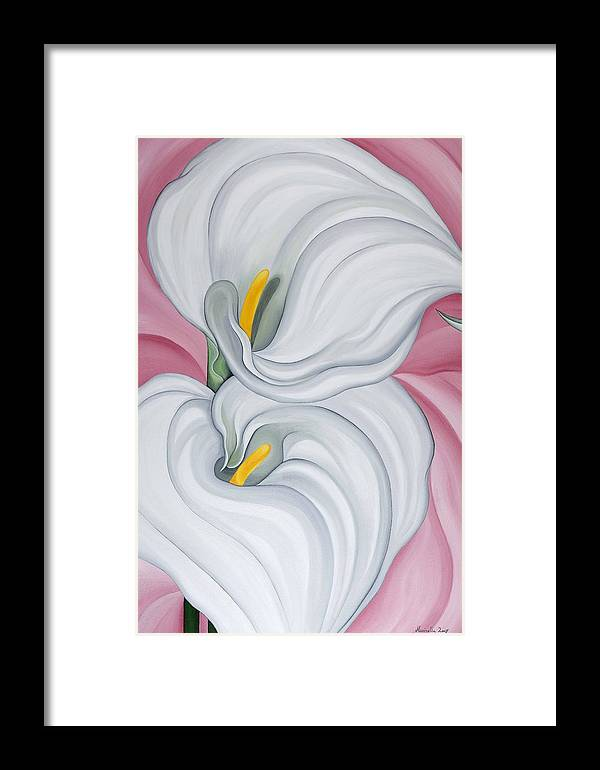 Marinella Owens Framed Print featuring the painting Callas No.4 by Marinella Owens