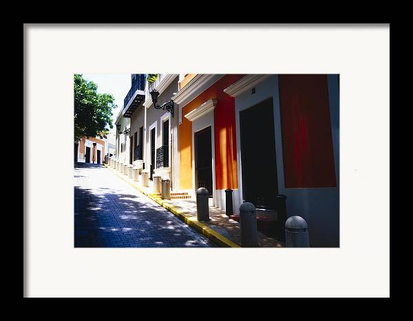 Street Photography Framed Print featuring the photograph Calle Del Sol Old San Juan Puerto Rico by George Oze