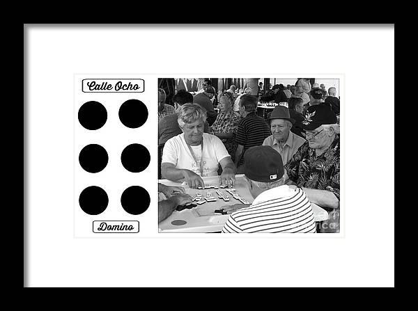 Calle Ocho Framed Print featuring the photograph Calle Ocho Domino Park by Lilliana Mendez